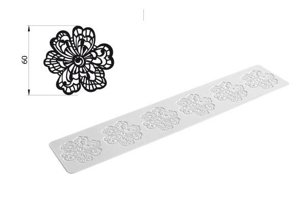 TRD03 FLOWER - TAPPETO IN SILICONE 80X400 H 1,8 MM