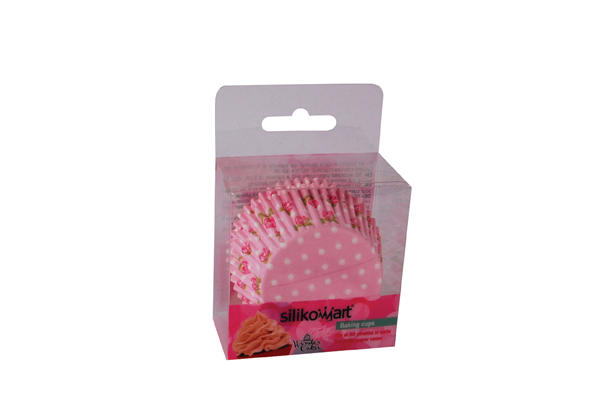 Baking Cups Pink Flower – 50 pcs