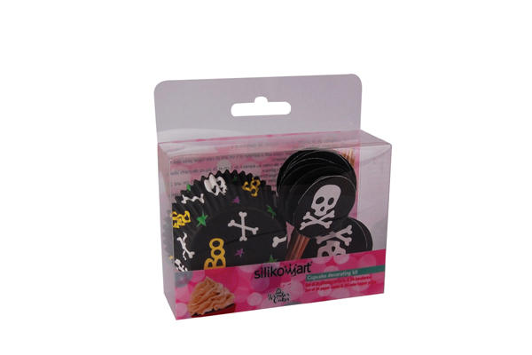 Set Pirottini e Bandierine Skull - 24 pcs