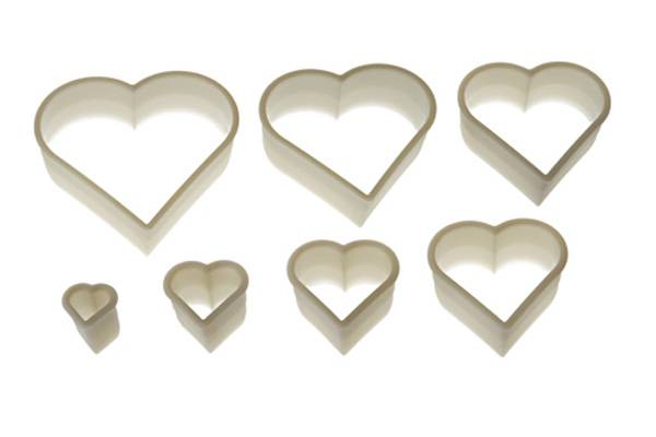 Nylon Cutter 14 Regular Heart da 3x2.5 cm a 12x11.5 cm