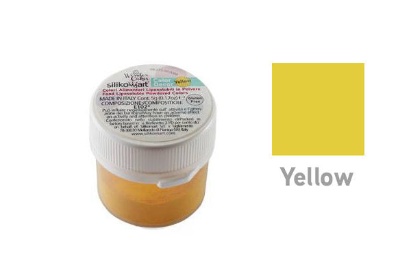 Colorante in polvere liposolubile giallo 5 gr